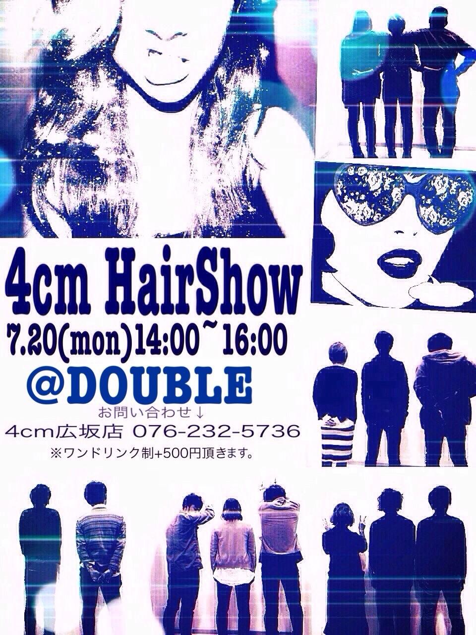 4cmヘアショーミーティング!!7月20日クラブDOUBLEにて開催